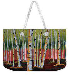 The Birch Forest Weekender Tote Bag