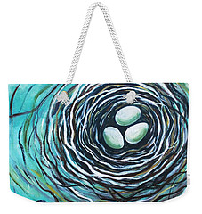 The Bird Nest Weekender Tote Bag by Elizabeth Robinette Tyndall