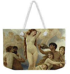 The Birth Of Venus Weekender Tote Bag by William-Adolphe Bouguereau