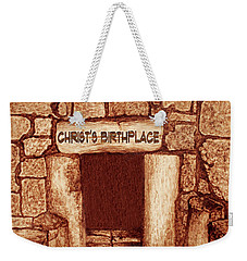 The Birthplace Of Christ Church Of The Nativity Weekender Tote Bag by Georgeta Blanaru