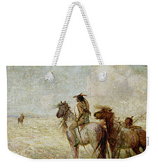 The Bison Hunters Weekender Tote Bag by Nathaniel Hughes John Baird
