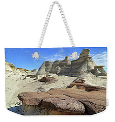 Weekender Tote Bag featuring the photograph The Bisti Badlands - New Mexico - Landscape by Jason Politte