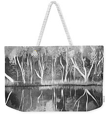 The Black And White Autumn Weekender Tote Bag
