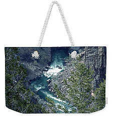 Weekender Tote Bag featuring the painting The Black Canyon Of The Gunnison by RC DeWinter