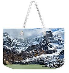 The Black Snowdrift Glacier Weekender Tote Bag