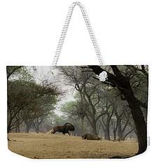 The Black Wildebeest Weekender Tote Bag by Ernie Echols