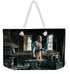 Weekender Tote Bag featuring the photograph The Blacksmith - Smith by Gary Heller