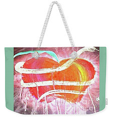 The Bleeding Heart Of The Illuminated Forbidden Fruit Weekender Tote Bag by Talisa Hartley