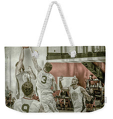 Weekender Tote Bag featuring the photograph The Block by Ronald Santini