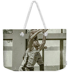 Weekender Tote Bag featuring the photograph The Block Too by Ronald Santini