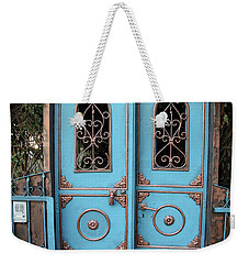The Blue And Gold Door Of Jerusalem Weekender Tote Bag by Yoel Koskas