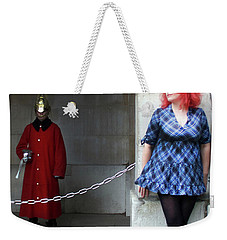 The Blue Ballet Shoes And The Queen's Guard Weekender Tote Bag