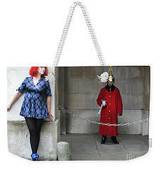 The Blue Ballet Shoes Hide From The Queen's Guard Weekender Tote Bag