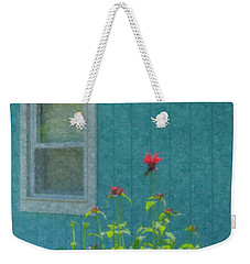 The Blue Beach Shack Weekender Tote Bag