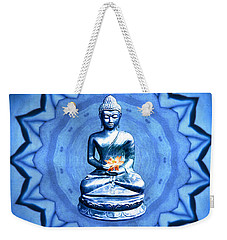 The Blue Buddha Meditation Weekender Tote Bag