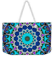 Weekender Tote Bag featuring the digital art The Blue Collective 01a by Wendy J St Christopher