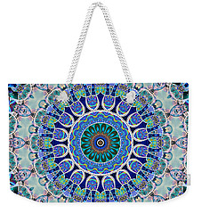 Weekender Tote Bag featuring the digital art The Blue Collective 02a by Wendy J St Christopher