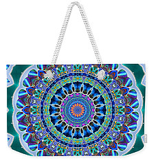 Weekender Tote Bag featuring the digital art The Blue Collective 03a by Wendy J St Christopher
