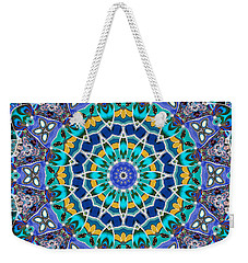 Weekender Tote Bag featuring the digital art The Blue Collective 04a by Wendy J St Christopher