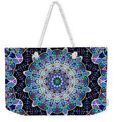 Weekender Tote Bag featuring the digital art The Blue Collective 05a by Wendy J St Christopher