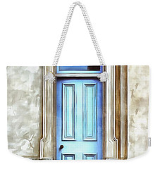 Weekender Tote Bag featuring the painting The Blue Door by Edward Fielding