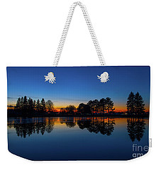 Weekender Tote Bag featuring the photograph The Blue Hour.. by Nina Stavlund
