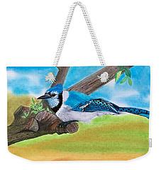 The Blue Jay  Weekender Tote Bag