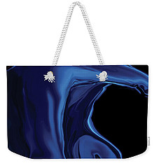Weekender Tote Bag featuring the digital art The Blue Kiss by Rabi Khan
