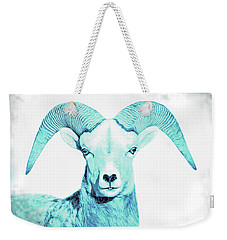 Weekender Tote Bag featuring the photograph The Blue Ram by Jennie Marie Schell