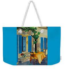 The Blue Shutters Weekender Tote Bag