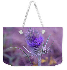 The Blue Softness Of A Teasel Weekender Tote Bag by Michelle Meenawong
