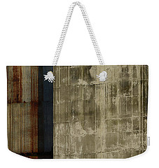 The Blue Stripe On Silo Wall Weekender Tote Bag