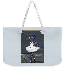 Weekender Tote Bag featuring the painting The Blue Swan by Similar Alien