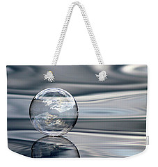 Weekender Tote Bag featuring the photograph The Blues Bubble by Cathie Douglas