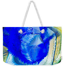Weekender Tote Bag featuring the painting The Blues by Omaste Witkowski