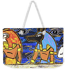 The Boat Of Ausar Passing Through The Underworld Weekender Tote Bag