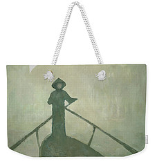 Weekender Tote Bag featuring the painting The Boatman by Steve Mitchell