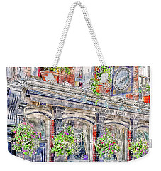 Weekender Tote Bag featuring the digital art The Bonny Boat An Historic English Pub by Anthony Murphy