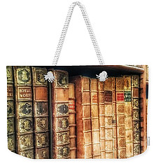 The Bookcase Weekender Tote Bag by Isabella F Abbie Shores FRSA
