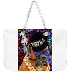 Weekender Tote Bag featuring the mixed media The Boss Boxer by Marvin Blaine