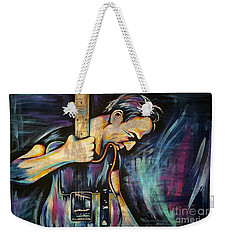 The Boss Bruce Springsteen Weekender Tote Bag by Amy Belonio