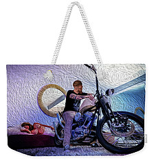 Weekender Tote Bag featuring the photograph The Boss- by JD Mims