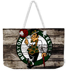 The Boston Celtics W10 Weekender Tote Bag by Brian Reaves