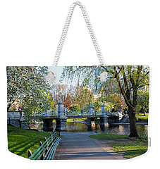The Boston Public Garden In The Spring Boston Ma Weekender Tote Bag