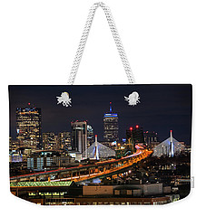 The Boston Skyline Boston Ma Full Zakim Weekender Tote Bag