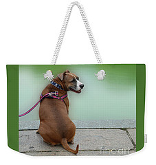 The Boxer In Central Park Weekender Tote Bag by Joseph J Stevens