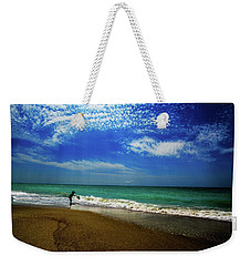The Boy At The Beach  Weekender Tote Bag by John Harding