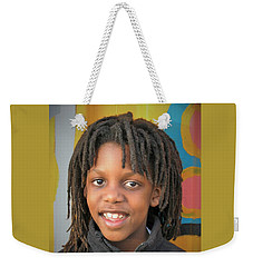 The Boy Who Wore Dreads Weekender Tote Bag by Angela J Wright