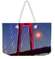 The Bridge And The Sunset Weekender Tote Bag by Justin Moore