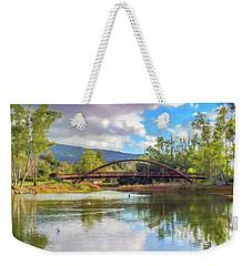 The Bridge At Vasona Lake Digital Art Weekender Tote Bag